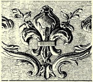 Fleur de lys du XVIIe siècle au château de Versailles d'après Lebrun