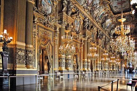Le grand foyer de l'Opéra Garnier